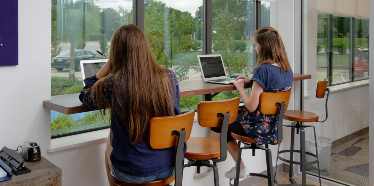 Girls Studying Image